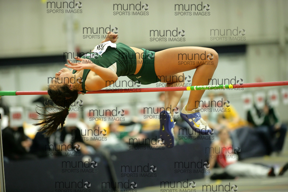 (Windsor, Ontario---11 March 2010) Veronika Smits of University of Saskatchewan competes in the  competes in the pentathlon high jump at the 2010 Canadian Interuniversity Sport Track and Field Championships at the St. Denis Center. Photograph copyright Sean Burges/Mundo Sport Images. www.mundosportimages.com
