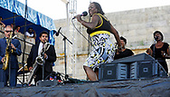 Sharon Jones and the Dap Kings at the Newport Folk Festival 2010