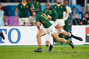 Cheslin Kolbe of South Africa runs with the ball to score a try during the World Cup Japan 2019, Final rugby union match between England and South Africa on November 2, 2019 at International Stadium Yokohama in Yokohama, Japan - Photo Yuya Nagase / Photo Kishimoto / ProSportsImages / DPPI