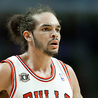 04 May 2011: Chicago Bulls center Joakim Noah (13) is seen during the Chicago Bulls 86-73 victory over the Atlanta Hawks, during game 2 of the Eastern Conference semi finals at the United Center, Chicago, Illinois, USA.