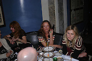 Charlotte Tilbury, Alice Temperley and Cali Rand, 'Pret-a-Portea'M.A.C. launches High Tea collection with British fashion designers. Berkeley Hotel. 17 January 2004. ONE TIME USE ONLY - DO NOT ARCHIVE  © Copyright Photograph by Dafydd Jones 66 Stockwell Park Rd. London SW9 0DA Tel 020 7733 0108 www.dafjones.com