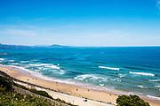 Cote des Basques beach in Biarritz, France.