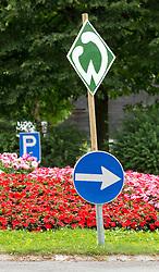 27.07.2016, Parkstadion, Zell am Ziller, AUT, Trainingslager, SV Werder Bremen, im Bild ein Werder_logo an einem Kreisverkehr in Zell // during the Preparation Camp of the German Bundesliga Club SV Werder Bremn at the Parkstadion in Zell am Ziller, Austria on 2016/07/27. EXPA Pictures © 2016, PhotoCredit: EXPA/ Jakob Gruber