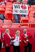 KANSAS CITY, MO - SEPTEMBER 26:   Fans of the Kansas City Chiefs show their love before a game against the San Francisco 49ers at Arrowhead Stadium on September 26, 2010 in Kansas City, Missouri.  The Chiefs defeated the 49ers 31-10.  (Photo by Wesley Hitt/Getty Images) *** Local Caption ***