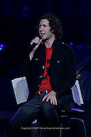 Josh Groban performing at Madison Square Garden on March 12, 2007