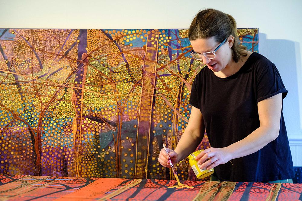 Venezuelan-German artist Enriqueta Ahrensburg @ahrensburgart in her studio in South London. 21 January, 2020. (Photos/Ivan Gonzalez)