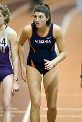 Morgan Bolen (Virginia) in the women's 1000m run.  Day 2 of the Virginia Tech Invitational Track and Field meet was held at the Rector Field House on the campus of Virginia Tech in Blacksburg, VA on January 12, 2008.