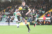 Forest Green Rovers Paul Digby(20) controls the ball during the EFL Sky Bet League 2 match between Yeovil Town and Forest Green Rovers at Huish Park, Yeovil, England on 8 December 2018.
