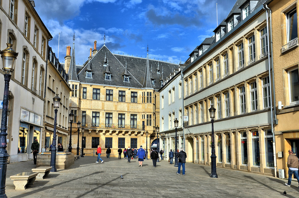 Rue de la Reine in Luxembourg City, Luxembourg<br />