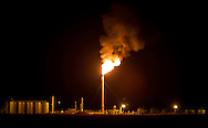 Flare at a fracking industry site in the Eagle Ford Shale region in Texas.