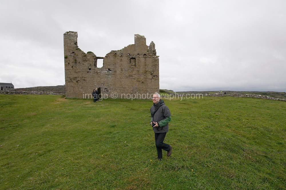 Castle on Inis Oirr Island the Aran Islands County Galway Ireland