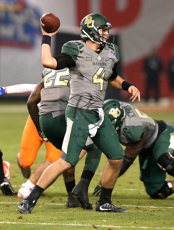 Baylor quarterback Zach Smith (4) during the Cactus Bowl NCAA college football game against Boise State, Tuesday, Dec. 27, 2016, in Phoenix. (AP Photo/Rick Scuteri)