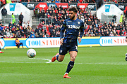 Tyler Roberts (11) of Leeds United during the EFL Sky Bet Championship match between Bristol City and Leeds United at Ashton Gate, Bristol, England on 9 March 2019.