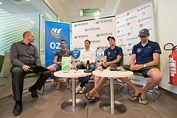 at press conference of OZS about Beachvolley team Pokersnik - Zemljak, on July 08, 2017 in Sberbank, Ljubljana, Slovenia. Photo by Matic Klansek Velej / Sportida