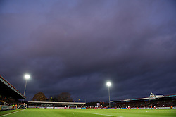 STEVENAGE, ENGLAND - Saturday, December 17, 2011: Tranmere Rovers take on Stevenage under floodlights during the Football League One match at Broadhall Way. (Pic by David Rawcliffe/Propaganda)