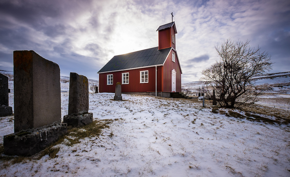 ICELAND - CIRCA MARCH 2015: Church in West  Iceland.