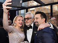 04.03.2018; Hollywood, USA: <br /> <br /> LIN MANUEL &amp; ELISABETH MOSS<br /> attends the 90th Annual Academy Awards at the Dolby&reg; Theatre in Hollywood.<br /> Mandatory Photo Credit: &copy;AMPAS/Newspix International<br /> <br /> IMMEDIATE CONFIRMATION OF USAGE REQUIRED:<br /> Newspix International, 31 Chinnery Hill, Bishop's Stortford, ENGLAND CM23 3PS<br /> Tel:+441279 324672  ; Fax: +441279656877<br /> Mobile:  07775681153<br /> e-mail: info@newspixinternational.co.uk<br /> Usage Implies Acceptance of Our Terms &amp; Conditions<br /> Please refer to usage terms. All Fees Payable To Newspix International