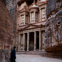 Self-portrait at the Treasury in Petra, Jordan, 2018