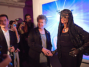 GRACE JONES; CHRIS LEVINE, Stillness at the Speed of Light exhibition. Chris Levine series of  portraits of  Grace Jones.  VINYL FACTORY. POLAND ST. LONDON. 29 APRIL 2010 *** Local Caption *** -DO NOT ARCHIVE-© Copyright Photograph by Dafydd Jones. 248 Clapham Rd. London SW9 0PZ. Tel 0207 820 0771. www.dafjones.com.<br /> GRACE JONES; CHRIS LEVINE, Stillness at the Speed of Light exhibition. Chris Levine series of  portraits of  Grace Jones.  VINYL FACTORY. POLAND ST. LONDON. 29 APRIL 2010