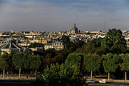 "France. Paris. elevated view. Paris,  Saint Augustin church view from  the "" grand palais"" roofs"