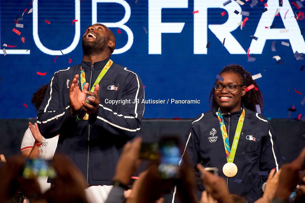 Teddy Riner - medaille d or +100kg<br /> Emilie Andeol - medaille d or +78kg