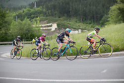 Ane Santesteban (ESP) of Ale-Cipollini Cycling Team and Ann-Sophie Duyck (BEL) of Drops Cycling Team ride mid-pack during  Stage 3 of the Emakumeen Bira - a 77.6 km road race, starting and finishing in Antzuola on May 19, 2017, in Basque Country, Spain. (Photo by Balint Hamvas/Velofocus)