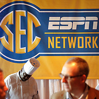 ESPN colleagues celebrate the launch of the new SEC Network at a party held at The Ballantyne Country Club in Charlotte, N.C. . ©Travis Bell Photography