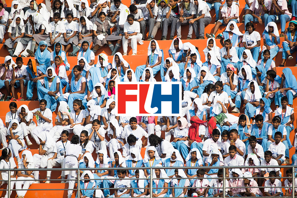 BHUBANESWAR -  publiek  tijdens  de Hockey World League Final wedstrijd Nederland-Spanje (2-3).  COPYRIGHT  KOEN SUYK