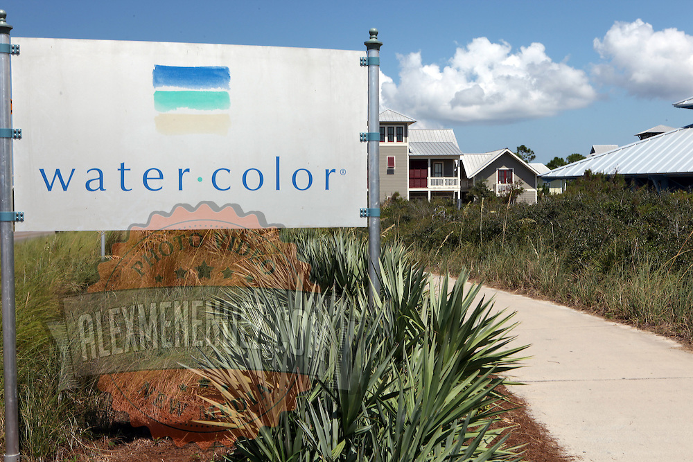The city of Watercolor along the Florida Scenic Highway 30A and the Emerald Coast in the panhandle area of Florida.(AP Photo/Alex Menendez) Florida scenic highway photos from the State of Florida. Florida scenic images of the Sunshine State.