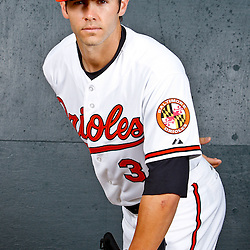 February 26, 2011; Sarasota, FL, USA; Baltimore Orioles starting pitcher Jake Arrieta (34) poses during photo day at Ed Smith Stadium.  Mandatory Credit: Derick E. Hingle