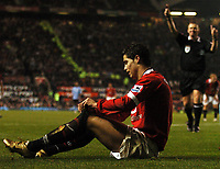 Photo: Javier Garcia/Digitalsport<br /> 07/11/2004 Manchester United v Manchester City, FA Barclays Premiership, Old Trafford<br /> Graham Poll waves away appeals for a penalty as Christiano Ronaldo rues his luck