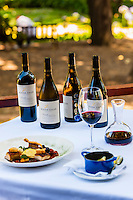 Lunch on terrace of Terroir Restaurant, Kleine Zalze Wines, Stellenbosch, Cape Winelands, South Africa.