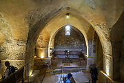 Israel, Jerusalem Mountains. Interior of the Crusader Church in Abu Gosh