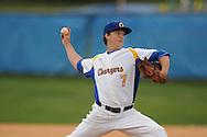 Oxford High's Zac Barber vs. Saltillo in Oxford, Miss. on Tuesday, March 29, 2011. Saltillo won 14-4.