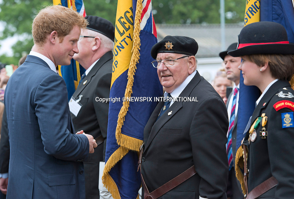 29.05.2014; Ipswich: SINGLE PRINCE HARRY APPEARS SMITTEN WITH GIRL<br /> While reviewing a parade of Royal British Legion Standards, Prince Harry appeared to have taken a liking for the Junior Cavalry Volunteer.<br /> His eyes kept flirting to where she was as he chatted to other members<br /> Mandatory Photo Credit: &copy;Dias/NEWSPIX INTERNATIONAL<br /> <br /> **ALL FEES PAYABLE TO: &quot;NEWSPIX INTERNATIONAL&quot;**<br /> <br /> PHOTO CREDIT MANDATORY!!: NEWSPIX INTERNATIONAL(Failure to credit will incur a surcharge of 100% of reproduction fees)<br /> <br /> IMMEDIATE CONFIRMATION OF USAGE REQUIRED:<br /> Newspix International, 31 Chinnery Hill, Bishop's Stortford, ENGLAND CM23 3PS<br /> Tel:+441279 324672  ; Fax: +441279656877<br /> Mobile:  0777568 1153<br /> e-mail: info@newspixinternational.co.uk