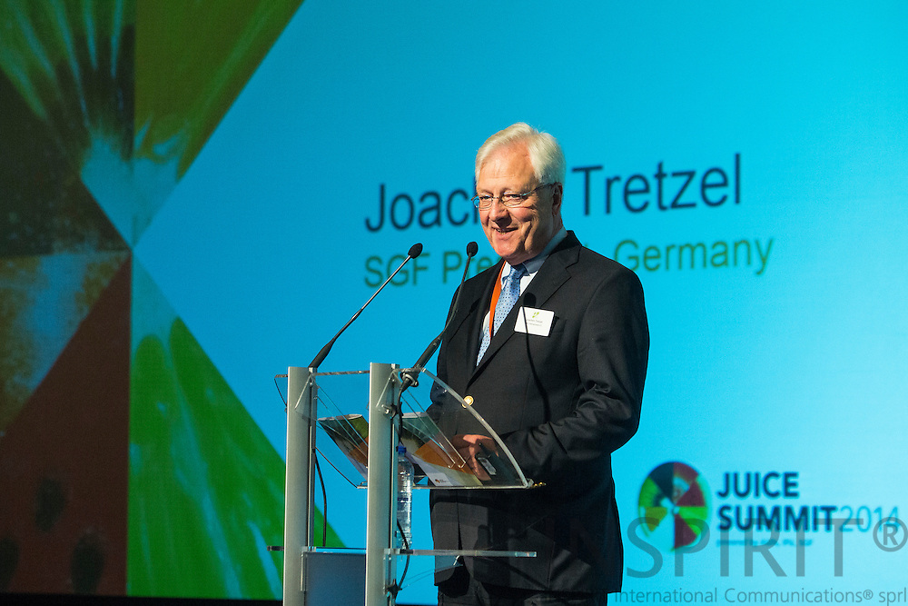Joachim Tretzel, President SGF, at the Juice Summit in Antwerp 15 - 16 October 2014. Photo: Erik Luntang