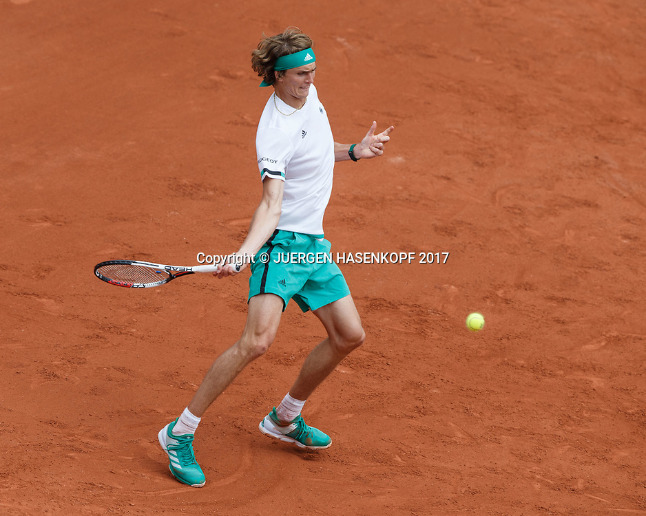 ALEXANDER ZVEREV (GER)<br /> <br /> Tennis - French Open 2017 - Grand Slam ATP / WTA -  Roland Garros - Paris -  - France  - 30 May 2017.