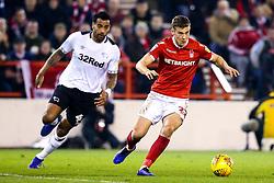Ryan Yates of Nottingham Forest takes on Tom Huddlestone of Derby County - Mandatory by-line: Robbie Stephenson/JMP - 25/02/2019 - FOOTBALL - The City Ground - Nottingham, England - Nottingham Forest v Derby County - Sky Bet Championship