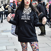 Street style - LFW AW20 Day 1 at Strand, London, UK. 14 Feb 2020