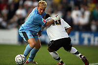 Photo: Rich Eaton.<br /> <br /> Hereford United v Coventry City. Carling Cup. 22/08/2006. Chris Birchall of Coventry City tackles the ball from Herefords Stuart Fleetwood Right