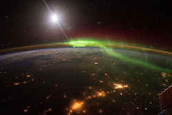 EARTH Aboard the International Space Station -- 20 Jan 2016 -- NASA astronaut Scott Kelly took this majestic image of the Earth at night highlighting the green and red hues of an Aurora during his record 340 days aboard the International Space Station. EXPA Pictures © 2016, PhotoCredit: EXPA/ Photoshot/ Scott Kelly/Atlas Photo Archive/<br /> <br /> *****ATTENTION - for AUT, SLO, CRO, SRB, BIH, MAZ, SUI only*****