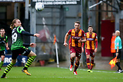 Bradford City defender Anthony McMahon (29) looks to close down during the EFL Sky Bet League 1 match between Bradford City and Doncaster Rovers at the Northern Commercials Stadium, Bradford, England on 30 September 2017. Photo by Simon Davies.