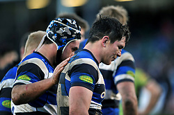 Francois Louw of Bath Rugby looks dejected after the match - Photo mandatory by-line: Patrick Khachfe/JMP - Mobile: 07966 386802 21/02/2015 - SPORT - RUGBY UNION - Bath - The Recreation Ground - Bath Rugby v Northampton Saints - Aviva Premiership