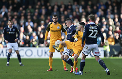 Beram Kayal of Brighton and Hove Albion tries to hold up the ball under pressure - Mandatory by-line: Arron Gent/JMP - 17/03/2019 - FOOTBALL - The Den - London, England - Millwall v Brighton and Hove Albion - Emirates FA Cup Quarter Final