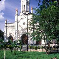 Plaza e Iglesia Nuestra Senora del Socorro, Tinaquillo, Estado Cojedes, Venezuela.