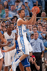 CHAPEL HILL, NC - MARCH 05: Kendall Marshall #5 of the North Carolina Tar Heels passes the ball while playing the Duke Blue Devils on March 05, 2011 at the Dean E. Smith Center in Chapel Hill, North Carolina. North Carolina won 67-81. (Photo by Peyton Williams/UNC/Getty Images) *** Local Caption *** Kendall Marshall