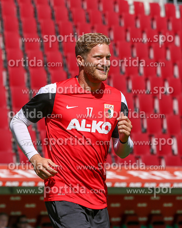 06.07.2014, SGL Arena, Augsburg, GER, 1. FBL, FC Augsburg, Training, im Bild Marcel de Jong (FC Augsburg #17), // during a Trainingssession of German Bundesliga Club FC Augsburg at the SGL Arena in Augsburg, Germany on 2014/07/06. EXPA Pictures &copy; 2014, PhotoCredit: EXPA/ Eibner-Pressefoto/ Krieger<br /> <br /> *****ATTENTION - OUT of GER*****