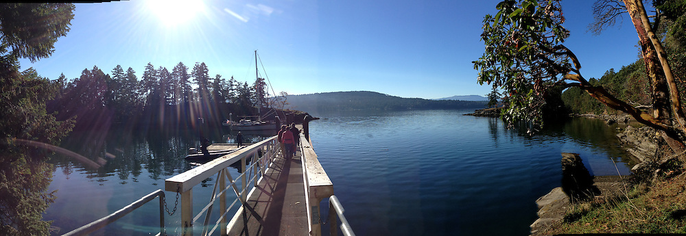 Leaving Wallace Island, Gulf Islands National Park Reserve, British Columbia, Canada