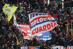 """Foto Filippo Rubin<br /> 04/02/2018 Bologna (Italia)<br /> Sport Calcio<br /> Bologna - Fiorentina - Campionato di calcio Serie A 2017/2018 - Stadio """"Renato Dall'Ara""""<br /> Nella foto: TIFOSI DEL BOLOGNA<br /> <br /> Photo by Filippo Rubin<br /> January 04, 2018 Bologna (Italy)<br /> Sport Soccer<br /> Bologna vs Fiorentina - Italian Football Championship League A 2017/2018 - """"Renato Dall'Ara"""" Stadium <br /> In the pic: BOLOGNA SUPPORTERS"""