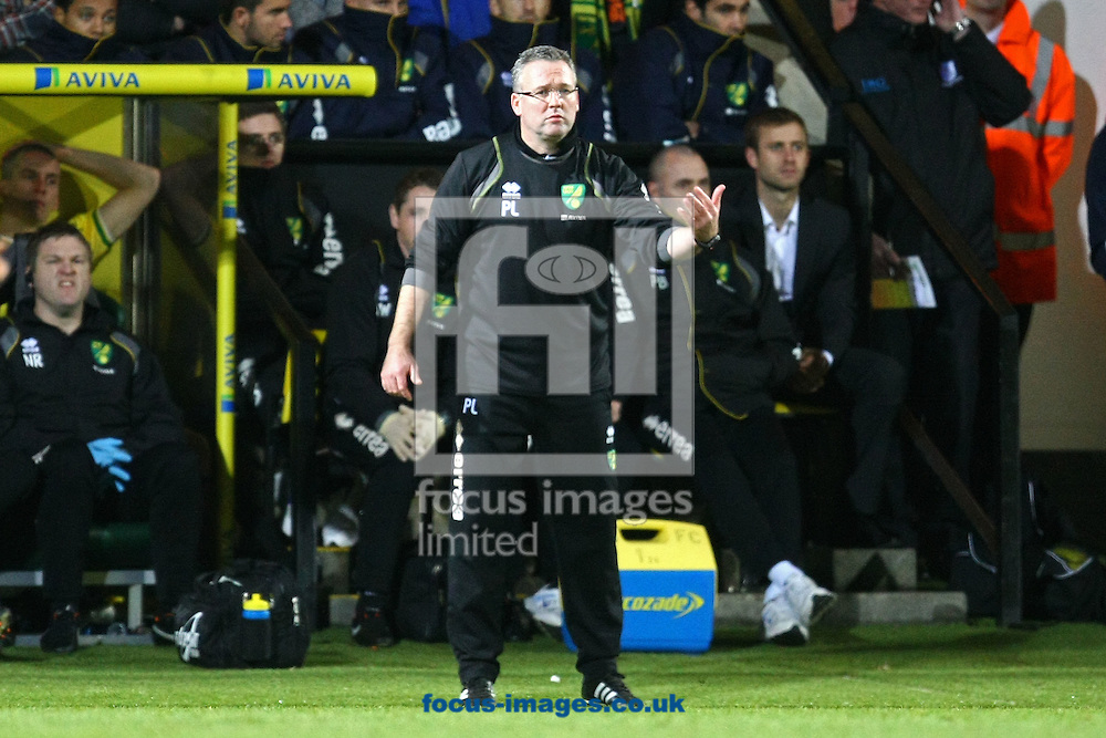Picture by Paul Chesterton/Focus Images Ltd.  07904 640267.31/12/11.Norwich Manager Paul Lambert during the Barclays Premier League match at Carrow Road Stadium, Norwich..